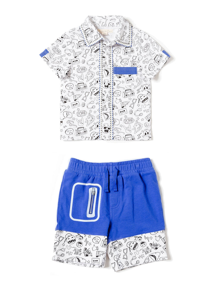 boys shirt and short set