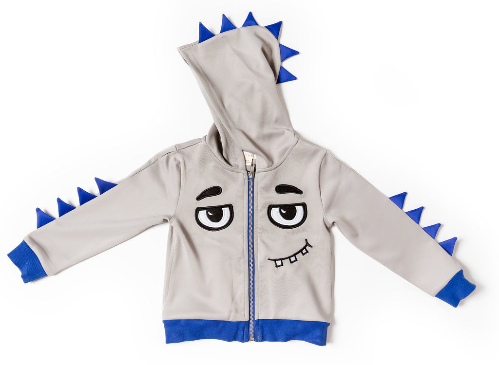 Kinderkind 2T 3T 4T 5T 6 7 kids apparel Baby clothes Children's clothing  Kids Fashion Kids clothing  toddler clothes machine washable  Playwear  Boys clothing  Boy's Scuba Monster Hoodie with French Terry Short Set Zip Up Hoodie Elastic Waist Tie Waist Detail Machine Washable  Jacket: 100% Poly Scuba Short: 95% Cotton 5% Spandex French Terry
