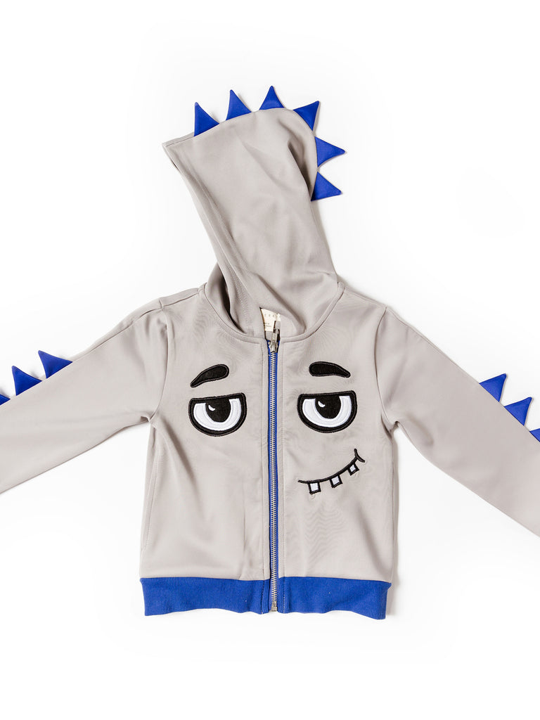 Kinderkind 2T 3T 4T 5T 6 7 kids apparel Baby clothes Children's clothing  Kids Fashion Kids clothing  toddler clothes machine washable  Playwear  Boys clothing  Boy's Scuba Monster Hoodie Zip Up Hoodie Machine Washable Jacket: 100% Poly Scuba