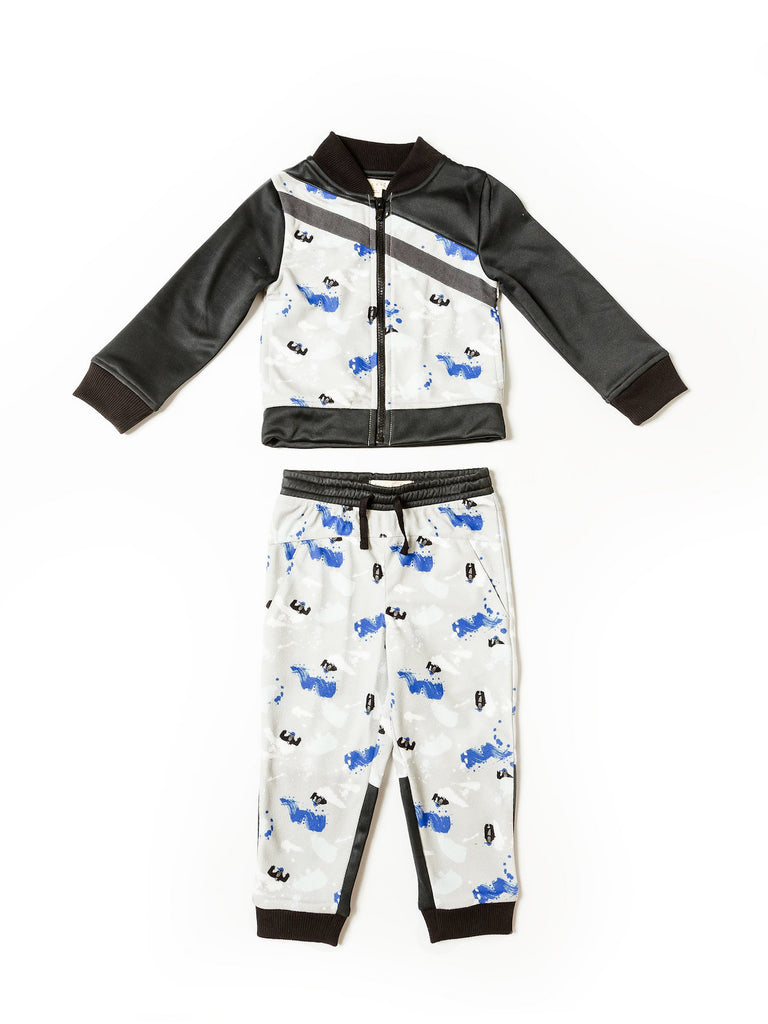Boy's Gorilla Graffiti Track Jacket and Jogger Set