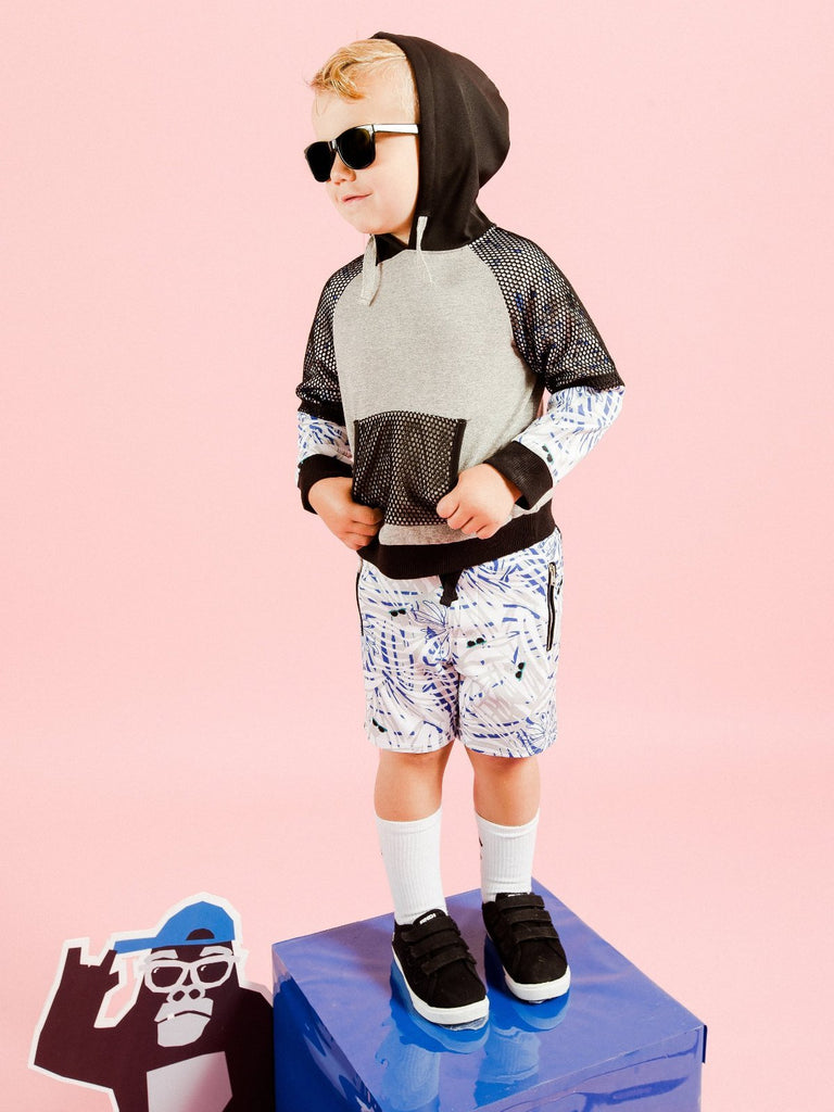 Kinderkind 2T 3T 4T 5T 6 7 kids apparel Baby clothes Children's clothing  Kids Fashion Kids clothing  toddler clothes machine washable  Playwear  Boys clothing  Boys Fern Print Scuba Shorts Pull On Short  Functional Side Welt Pockets Elastic Waistband Fun Summer Print Machine Washable 100% Poly Scuba