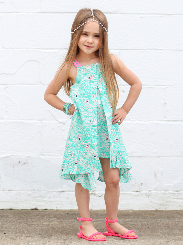Girls Fern Print Dress