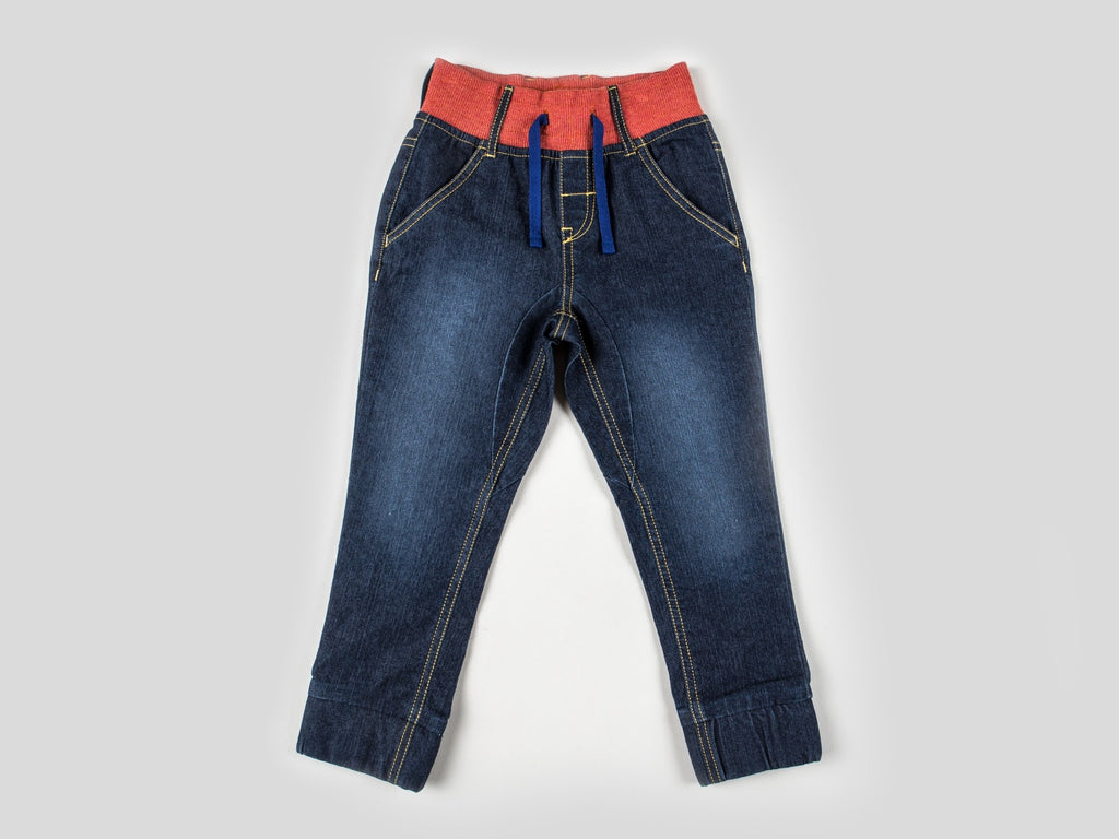 Boys Geo Fox Pull Over and Pull On Denim Jogger Set