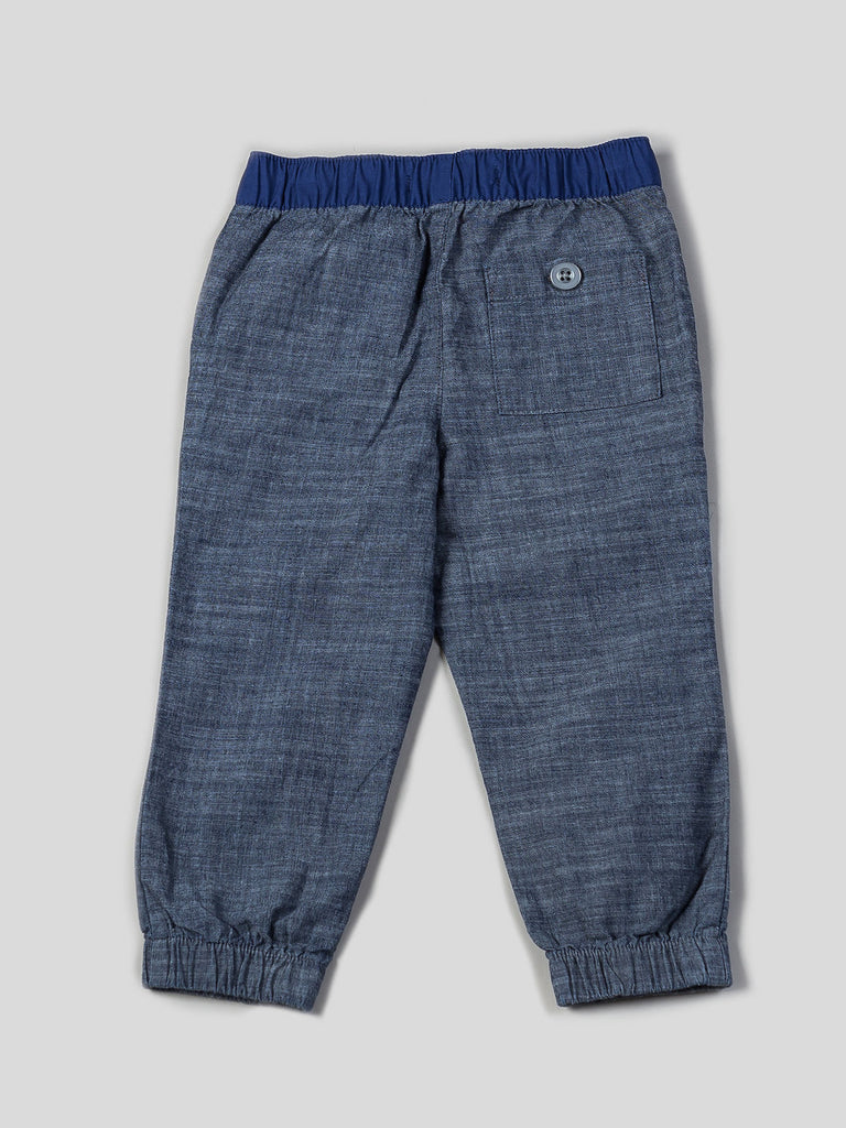 Boys Printed Tee and Chambray Jogger Set