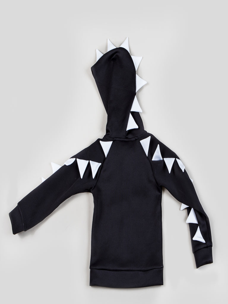 Kinderkind 2T 3T 4T 5T 6 7 kids apparel Baby clothes Children's clothing  Kids Fashion Kids clothing  toddler clothes machine washable  Playwear  Boys clothing  Boys Dragon Hoodie Zip up hoodie with 3D dragon scale detail on hood, shoulder and sleeves Imported Machine washable 100% polyester scuba