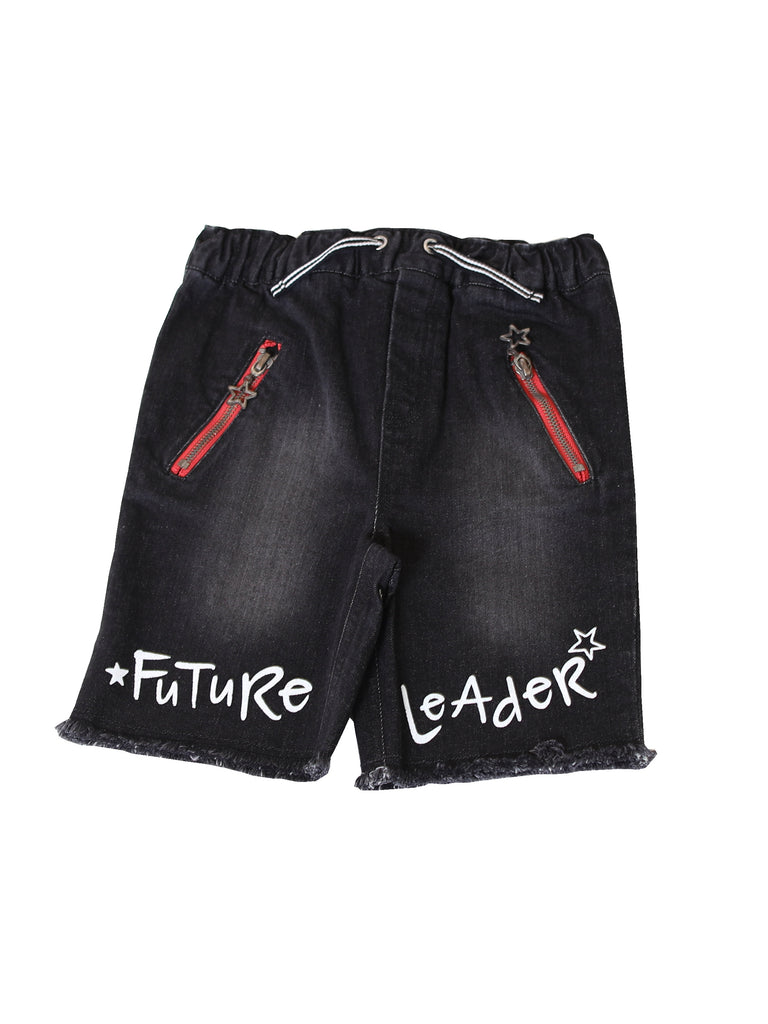 Boys Denim Shorts with Raw Hem