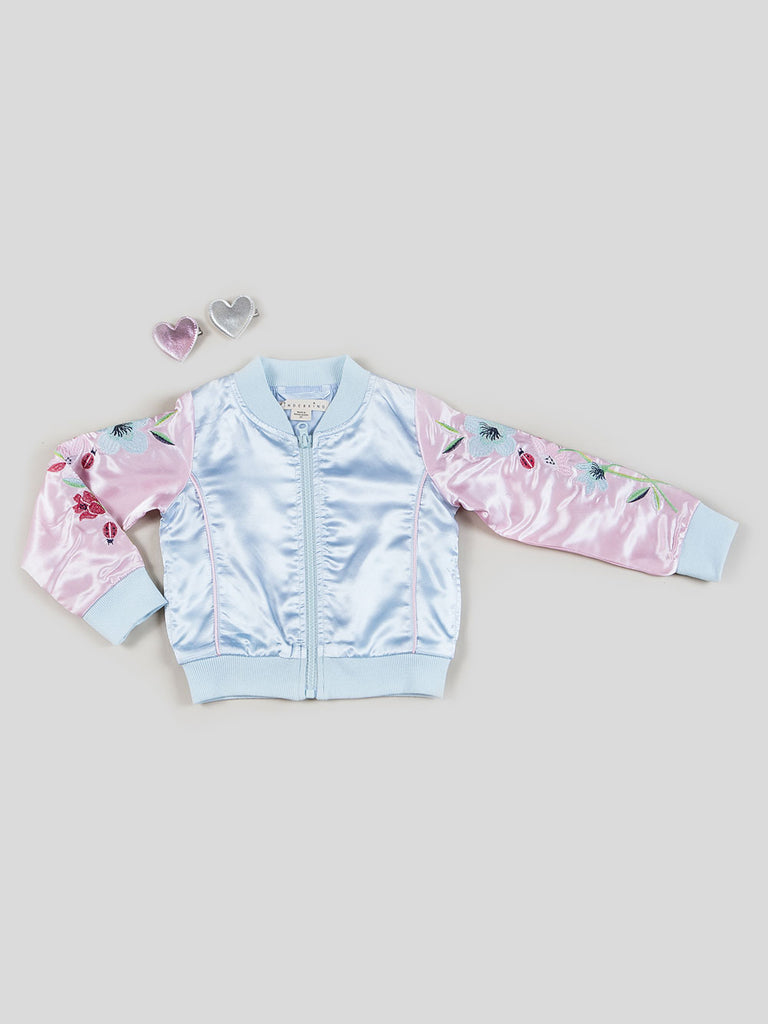 Girls Satin Bomber