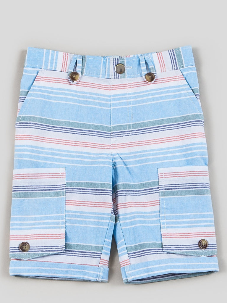 boys striped canvas shorts