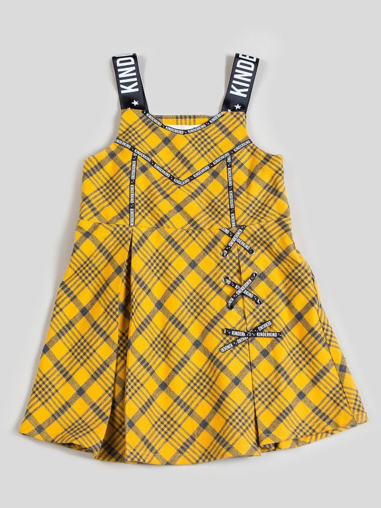 Kinderkind 2T 3T 4T 5T 6 7 kids apparel Baby clothes Children's clothing Kids Fashion Kids clothing toddler clothes machine washable Playwear Girls clothing Girls Leggings Girls dresses Girl's Flannel Dress Fit and flare flannel dress with grosgrain straps Machine Washable 100% Cotton Flannel
