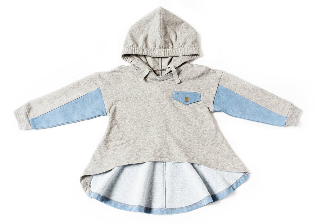 Kinderkind 2T 3T 4T 5T 6 7 kids apparel Baby clothes Children's clothing Kids Fashion Kids clothing toddler clothes machine washable Playwear Girls clothing Girls Leggings Girls dresses Girl's French Terry Pullover with High Low Hem Adjustable Hood Machine Washable 95% Cotton 5% Spandex French Terry