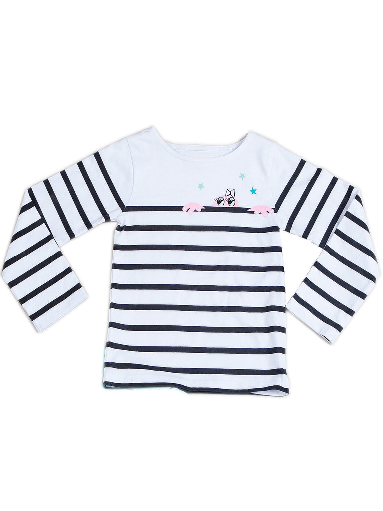 Kinderkind 2T 3T 4T 5T 6 7 kids apparel Baby clothes Children's clothing Kids Fashion Kids clothing toddler clothes machine washable Playwear Girls clothing Girls Leggings Girls dresses Girl's Long Sleeve Striped Monster Top Machine Washable