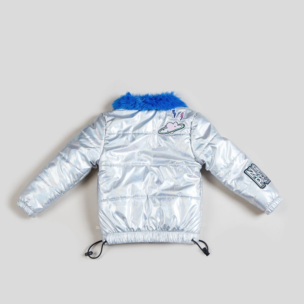 Kinderkind 2T 3T 4T 5T 6 7 kids apparel Baby clothes Children's clothing Kids Fashion Kids clothing toddler clothes machine washable Playwear Girls clothing Girls Leggings Girls dresses Girl's Parka with Faux Fur Collar Puffer jacket in iridescent microfiber and contrast fur collar 100% Poly Microfiber