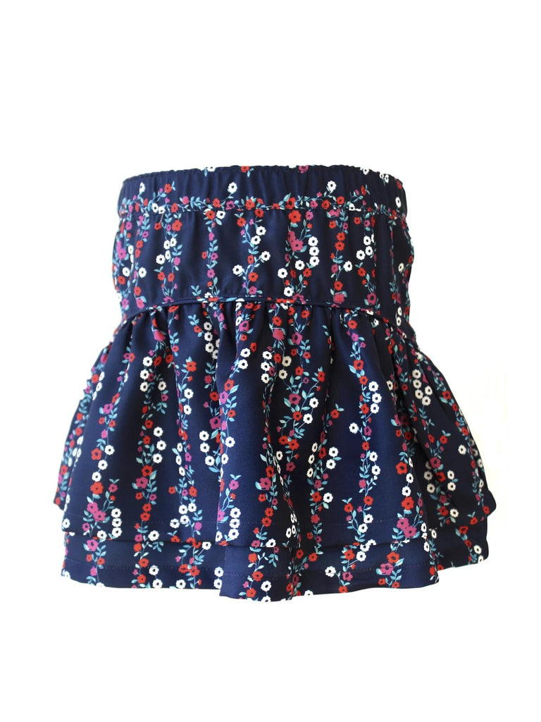 Kinderkind 2T 3T 4T 5T 6 7 kids apparel Baby clothes Children's clothing  Kids Fashion Kids clothing  toddler clothes machine washable  Playwear  Girls clothing  Girls Leggings Girls dresses  Girls Floral Skirt Pull-on back elastic waistband 100% poly twill