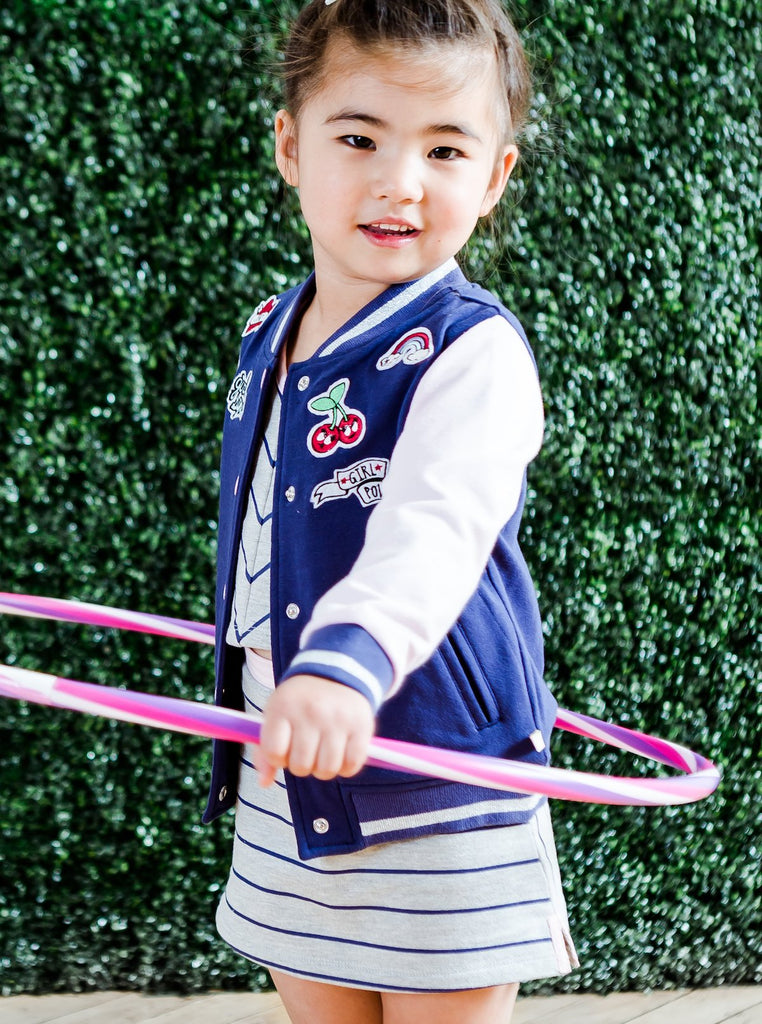 Kinderkind 2T 3T 4T 5T 6 7 kids apparel Baby clothes Children's clothing  Kids Fashion Kids clothing  toddler clothes machine washable  Playwear  Girls clothing  Girls clothes  Girls Leggings Girls dresses  Girls Pull-on Skort Pull-on back elastic waistband short Side slits with contrast twill tape Machine washable 95% cotton 5% spandex french terry