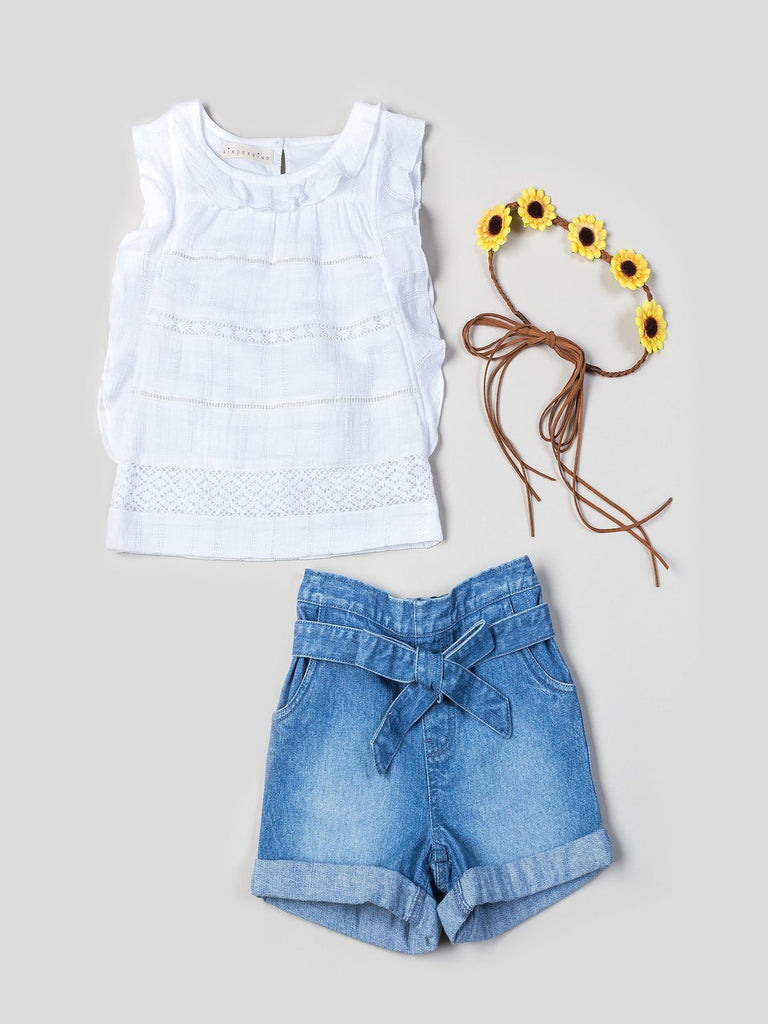 Girls top and shorts sets