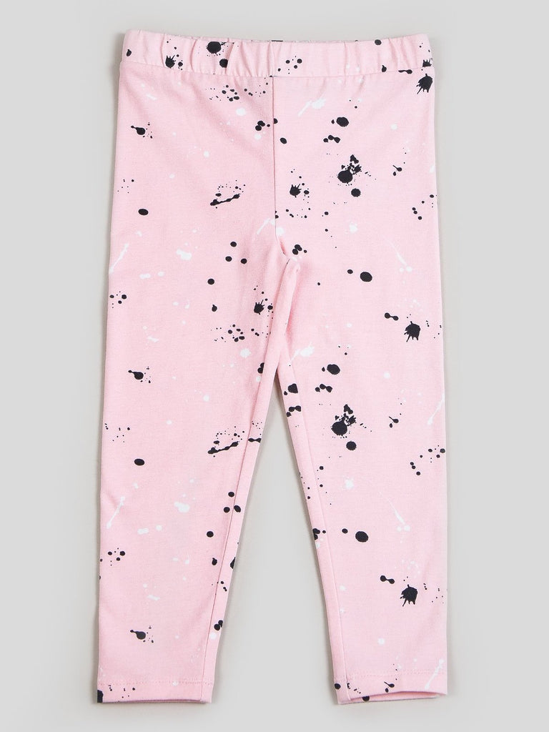 Kinderkind 2T 3T 4T 5T 6 7 kids apparel Baby clothes Children's clothing Kids Fashion Kids clothing toddler clothes machine washable Playwear Girls clothing Girls Leggings Girls dresses Girl's Splatter Print Legging Machine Washable 95% Cotton 5% Spandex Jersey