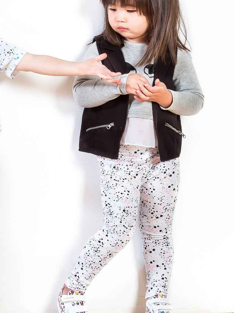 Girls vest, pullover and legging sets