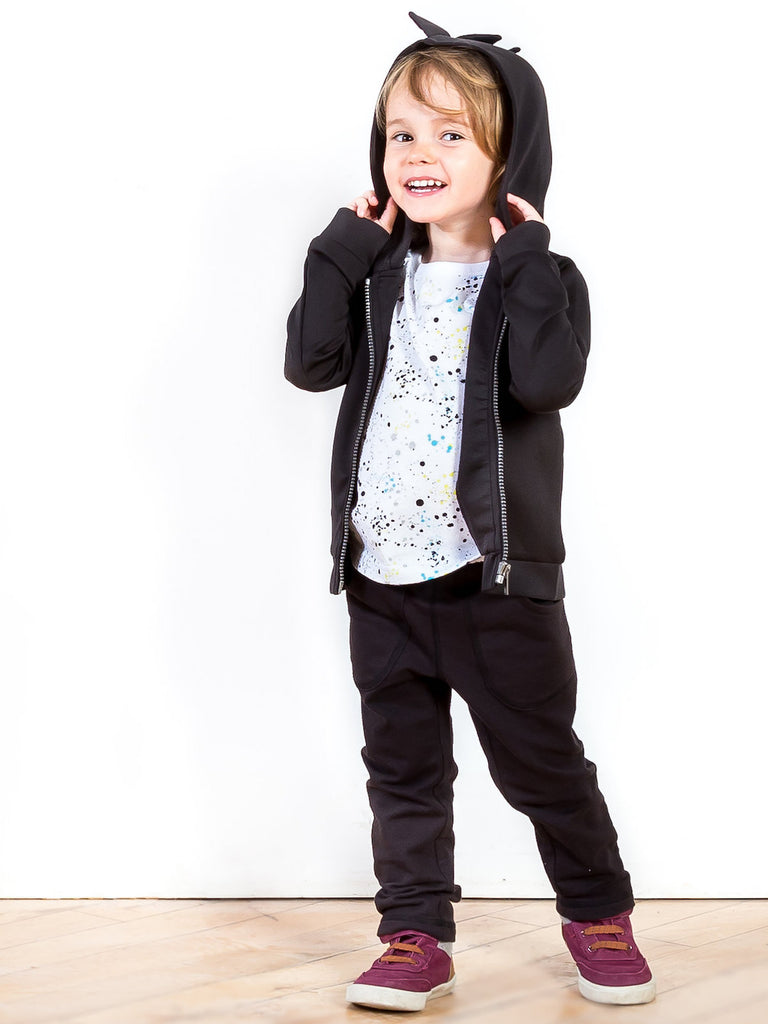 Boys Monster Scuba Hoodie, Printed Tee and Jogger Set