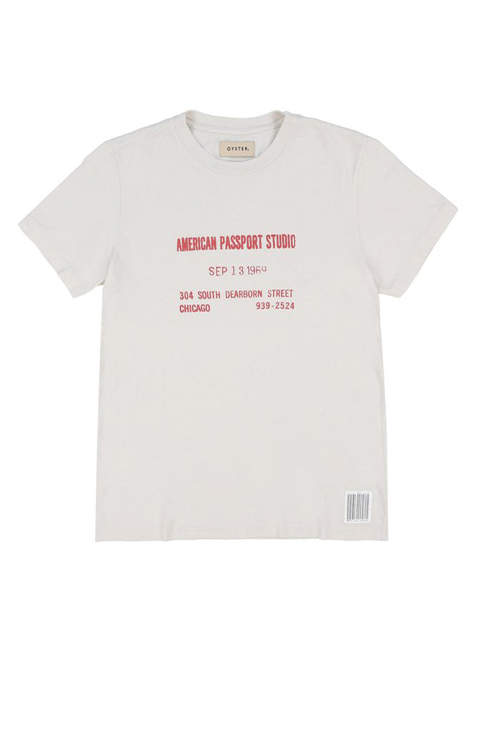 PASSPORT STUDIO TEE (VINTAGE WHITE)