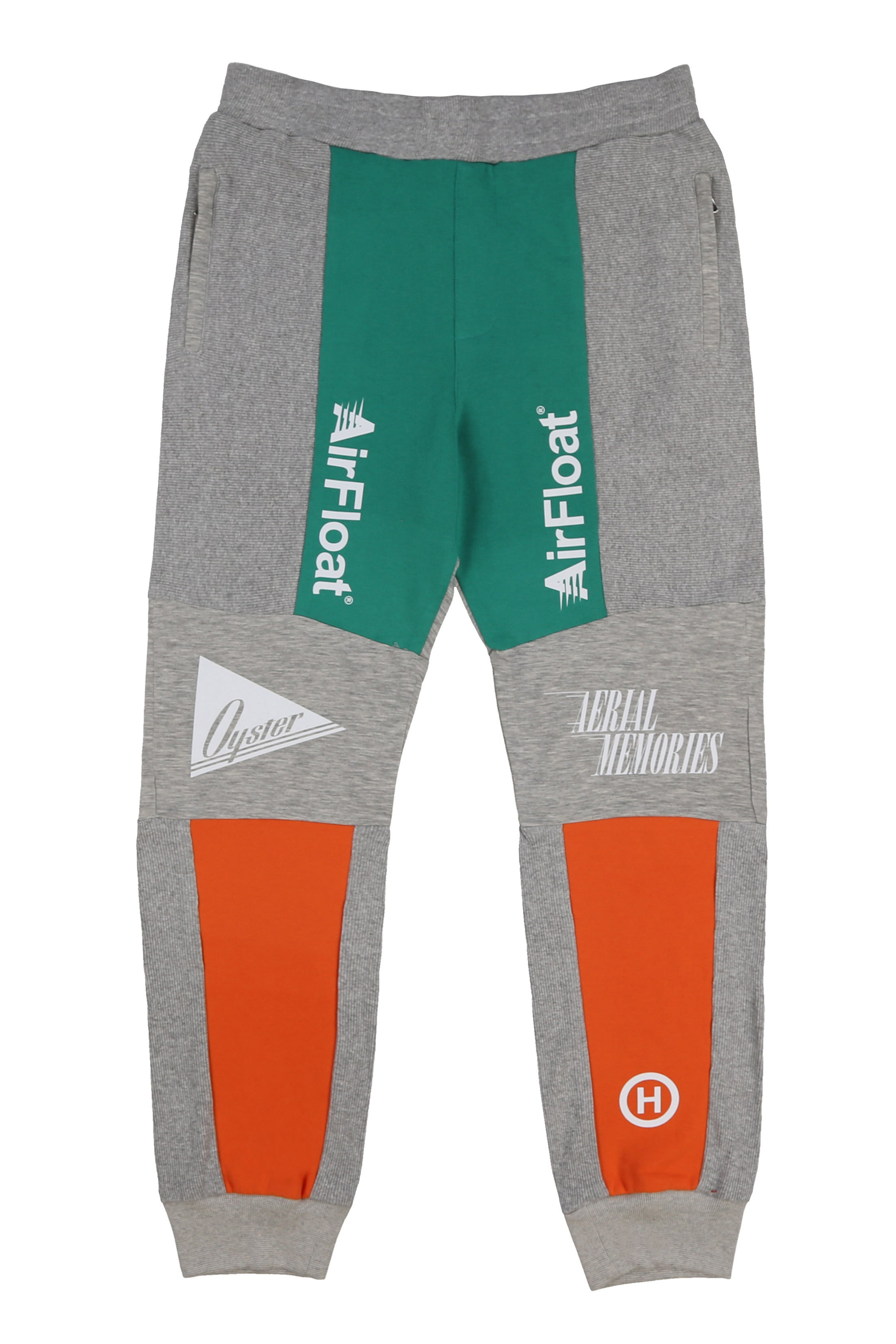 AIRFLOAT SWEATPANTS (GREY MELANGE/GREEN/ORANGE)