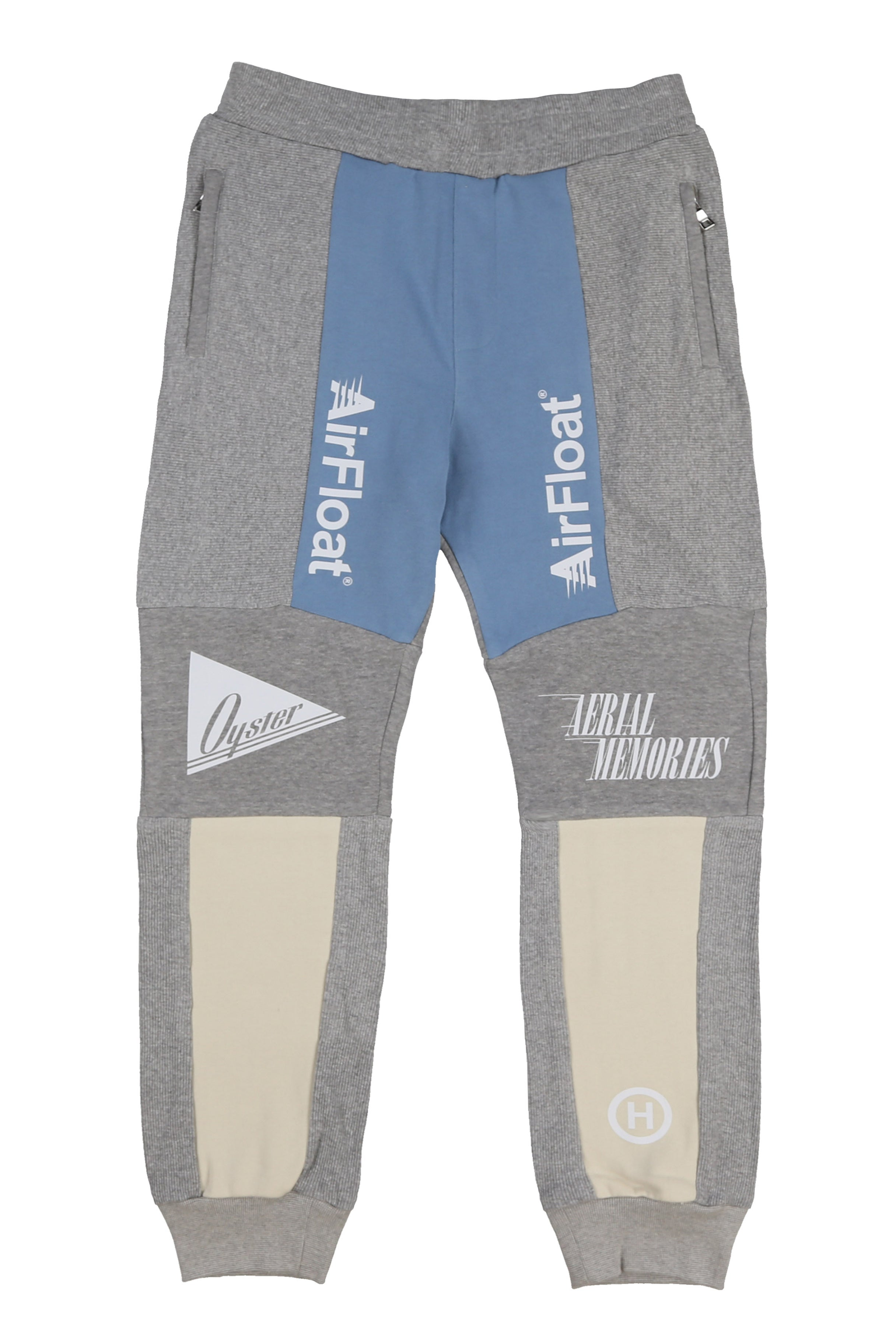 AIRFLOAT SWEATPANTS (GREY MELANGE/BLUE/CREAM)