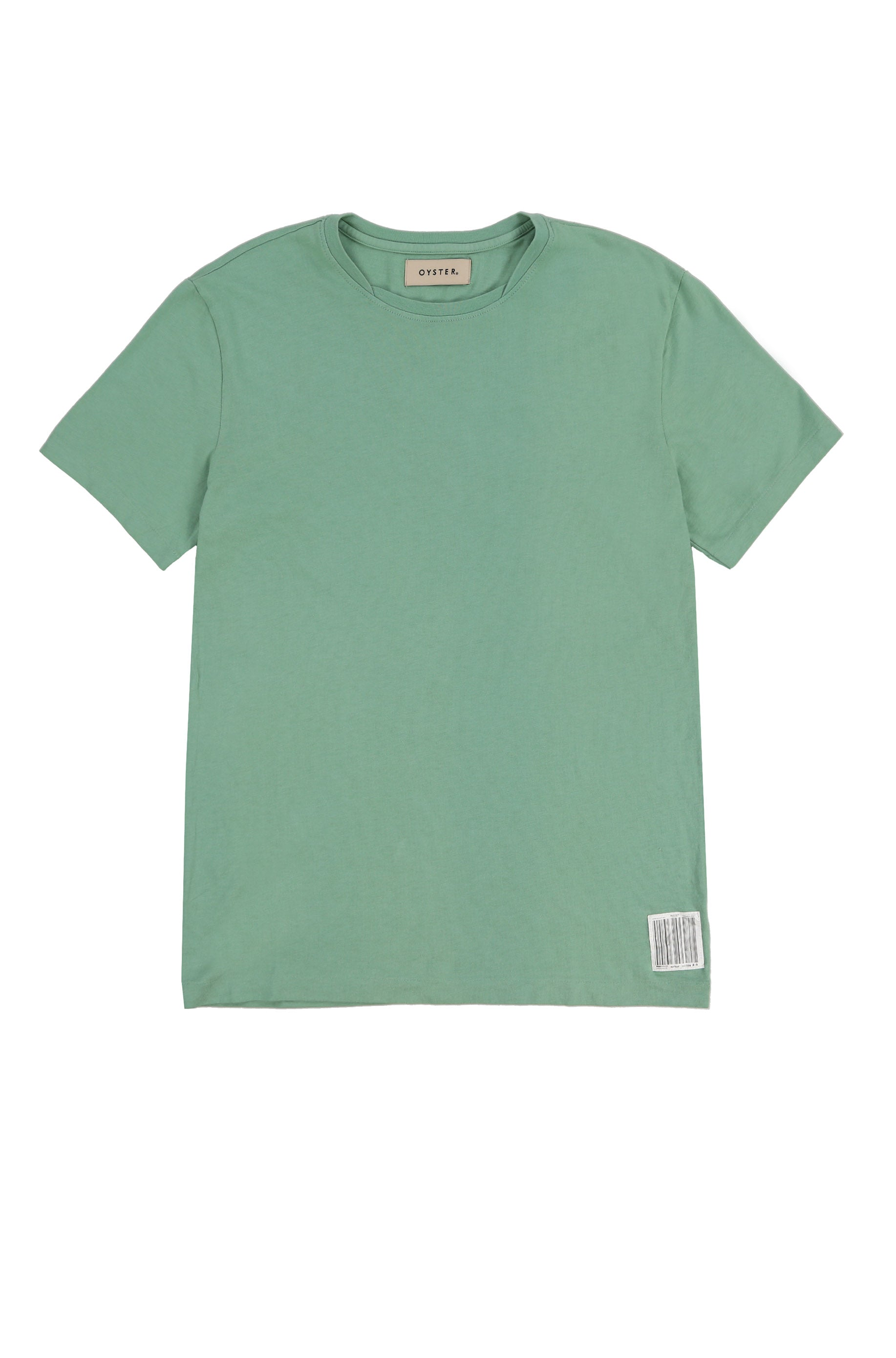 OYSTER NECK LAYERING TEE (GREEN)