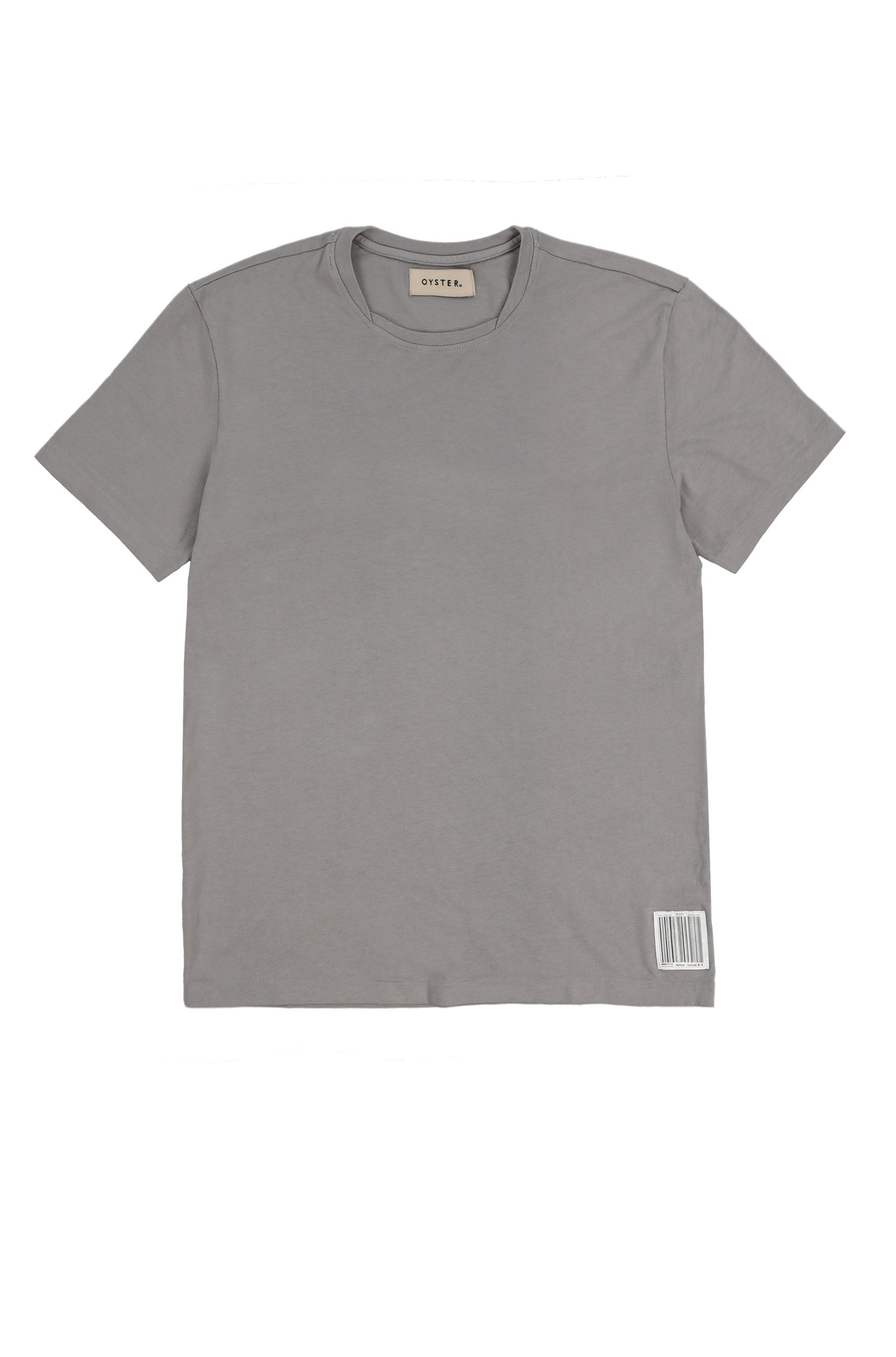 OYSTER NECK LAYERING TEE (STONE)