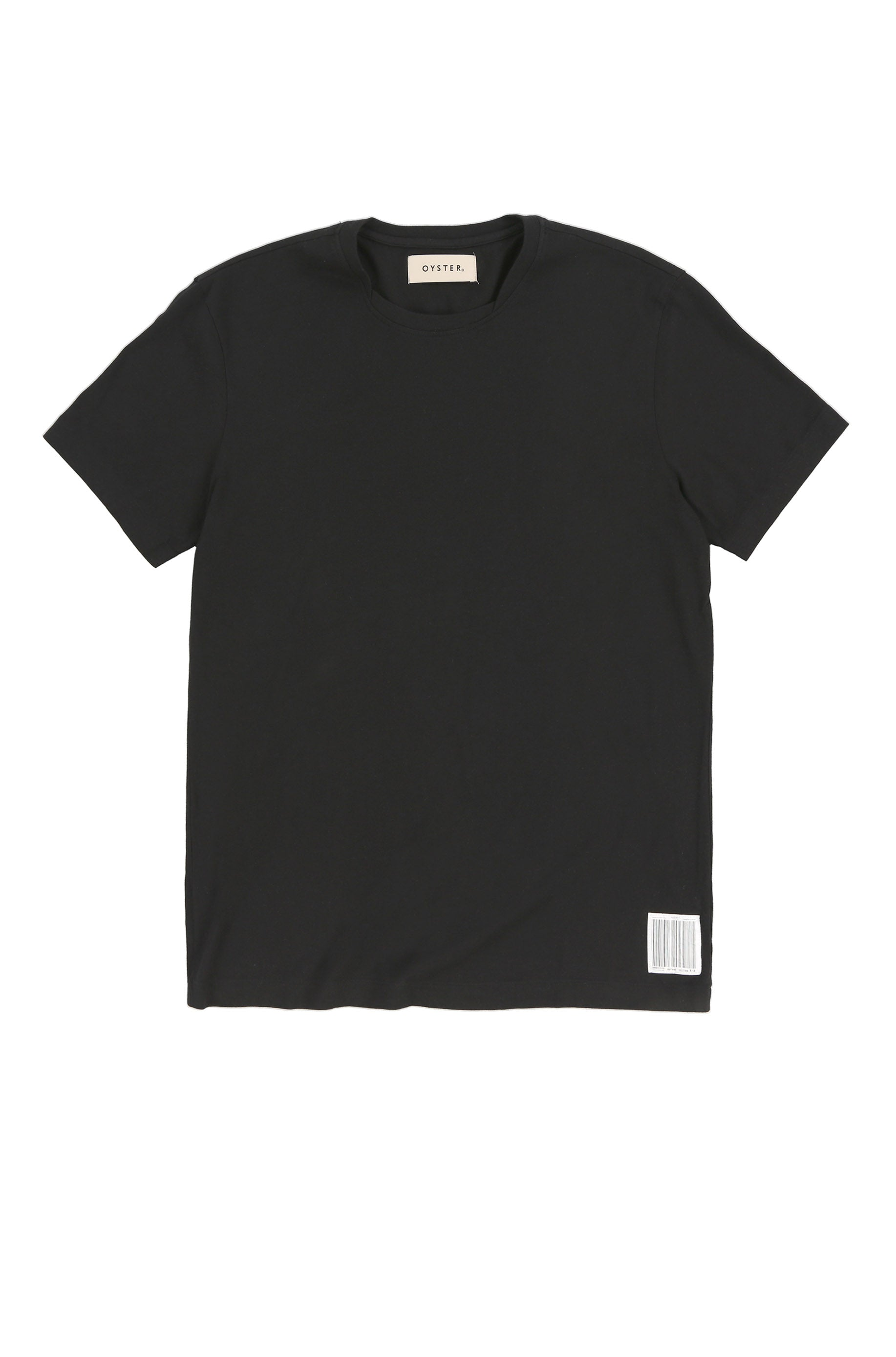 OYSTER NECK LAYERING TEE (BLACK)