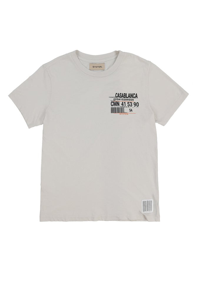 CASABLANCA BOARDING PASS TEE (WHITE)