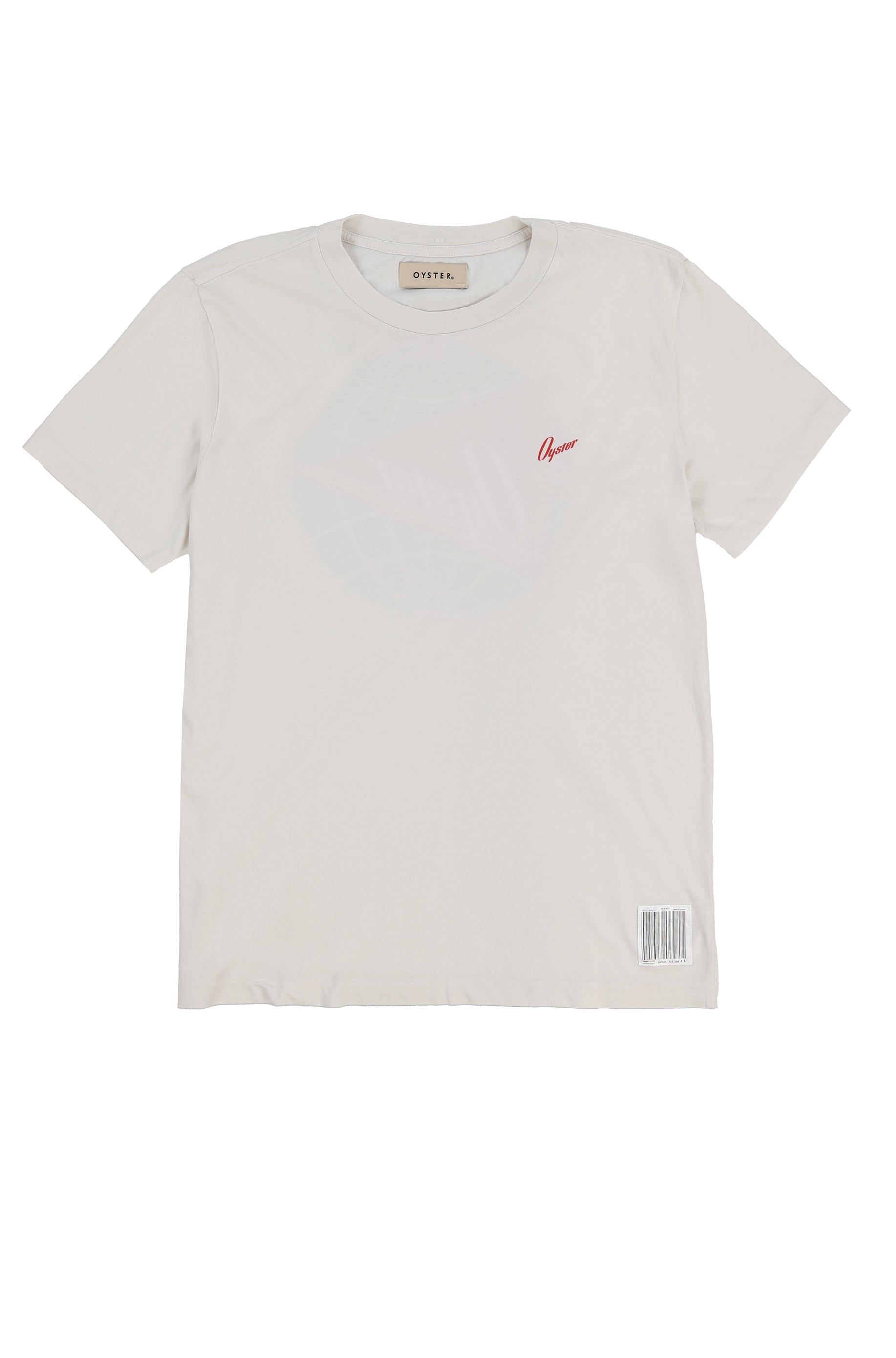 OYSTER PENNANT TEE (VINTAGE WHITE)