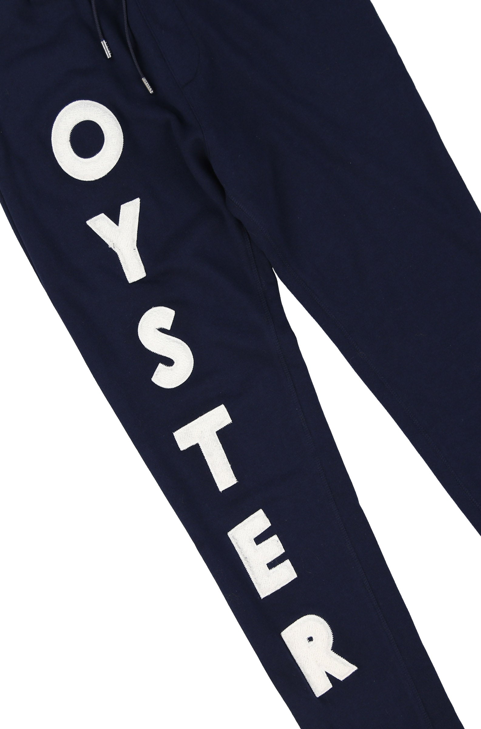 Oyster logo chenille sweatpants (Navy)