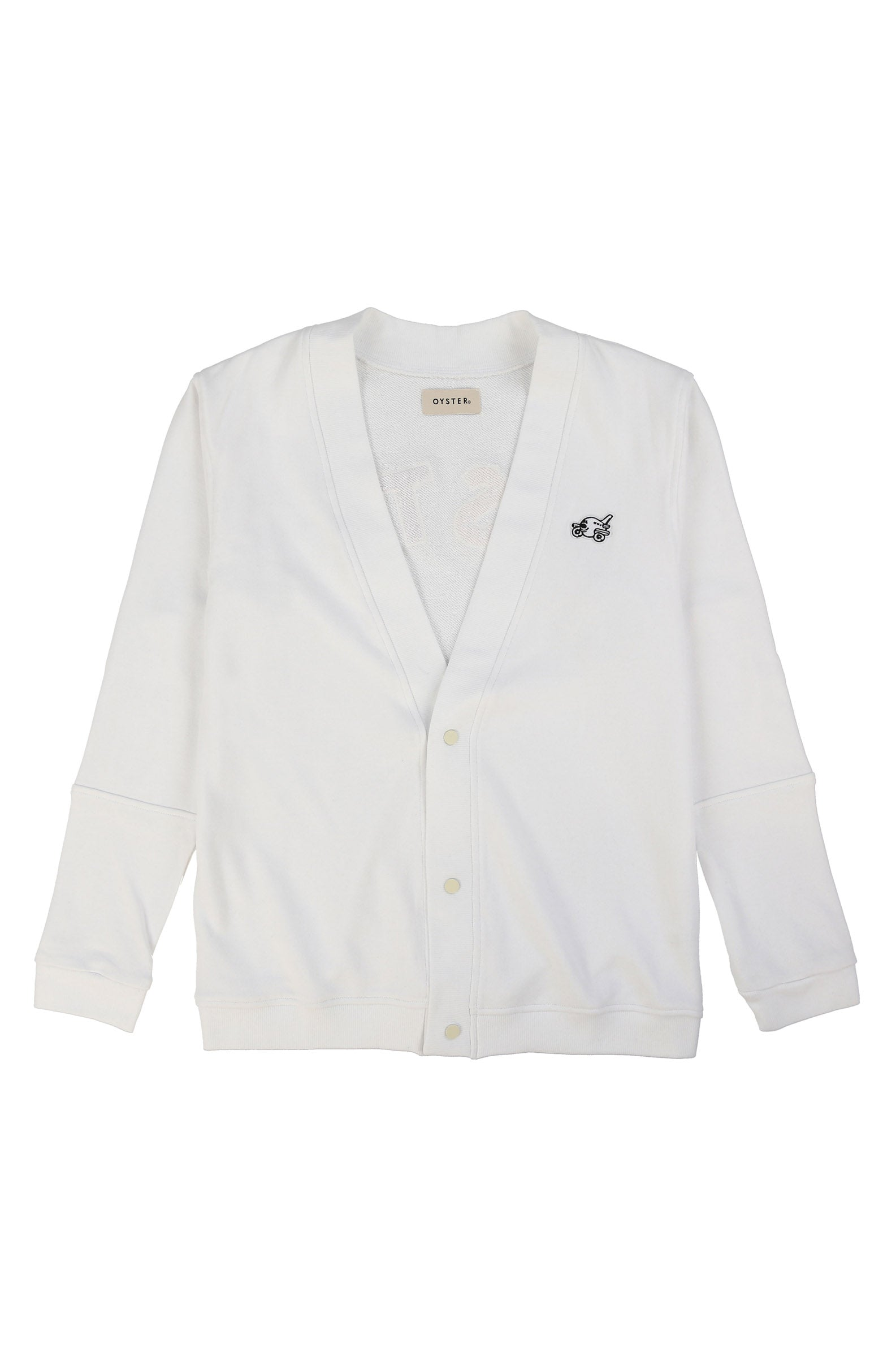 CHENILLE CARDIGAN (WHITE/MULTI)