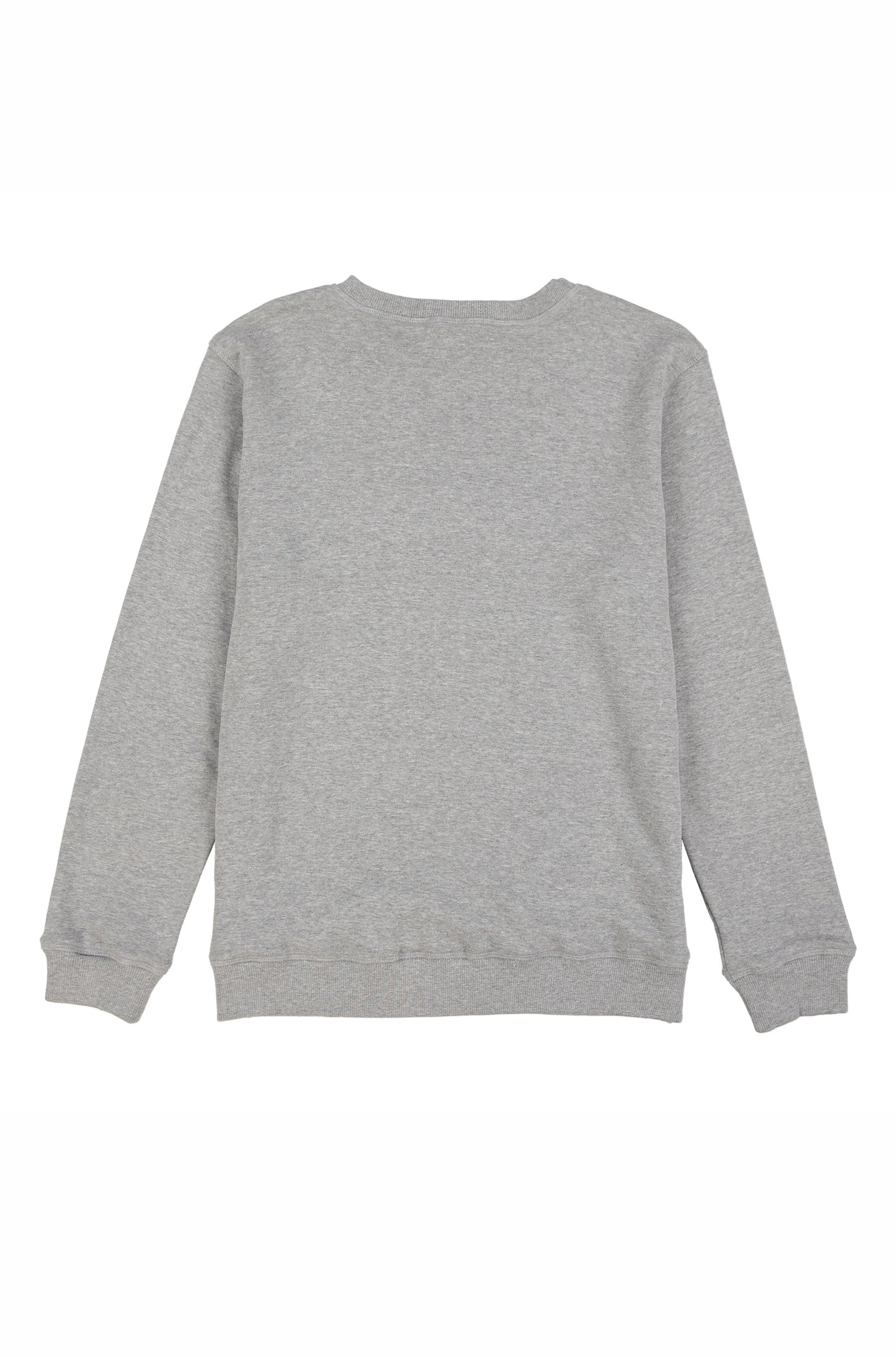 OYSTER LOGO CHENILLE CREW SWEATSHIRT (HEATHER GREY)