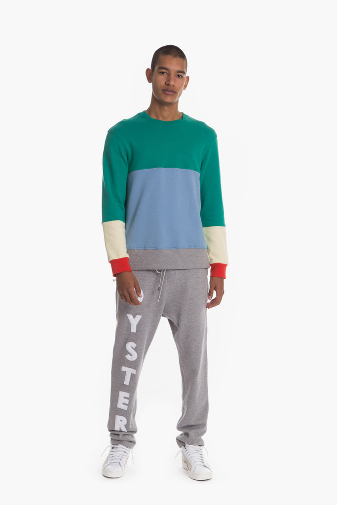 OYSTERLOGOCHENILLESWEATPANTS(GREY)