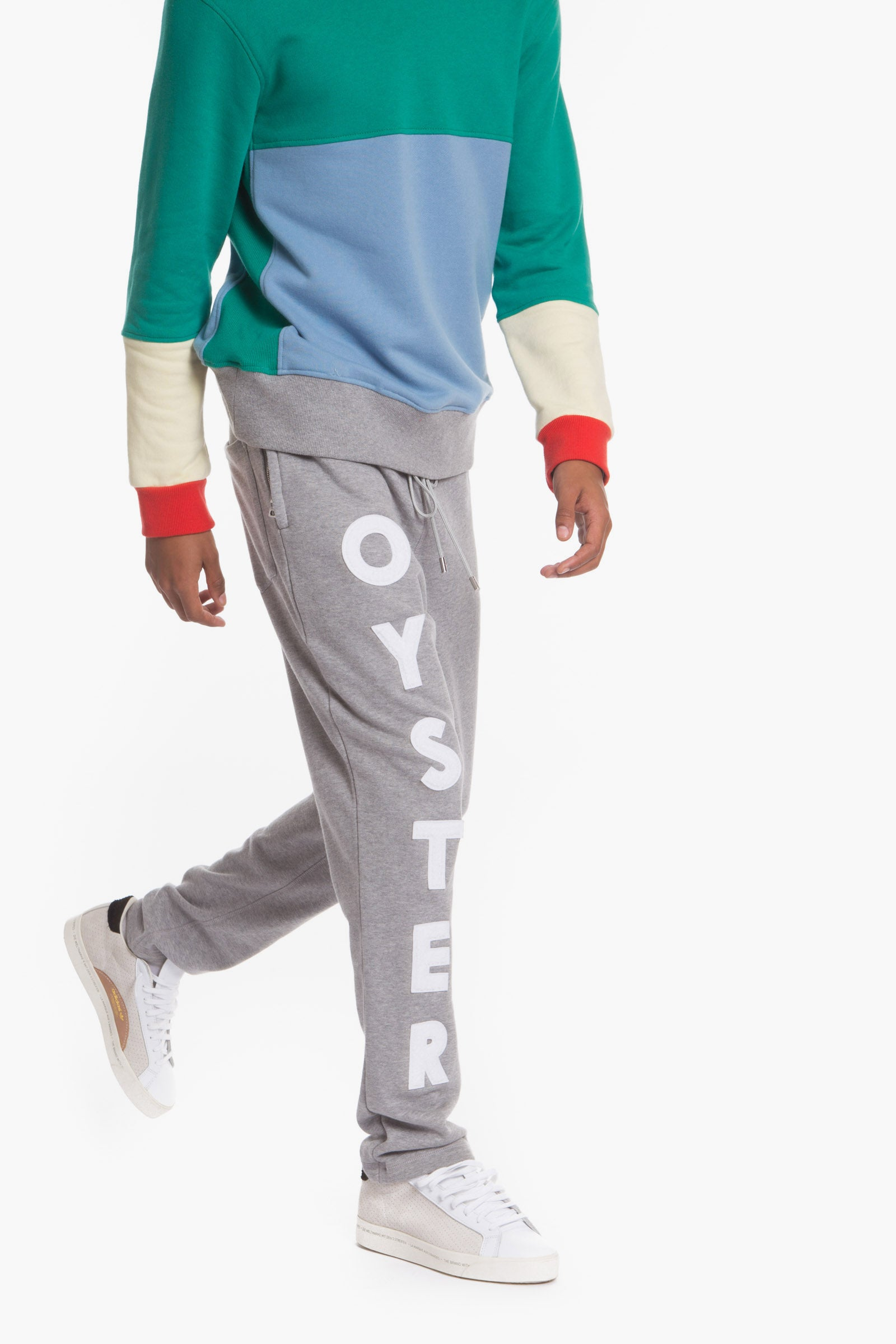 Oyster logo chenille sweatpants (Grey)
