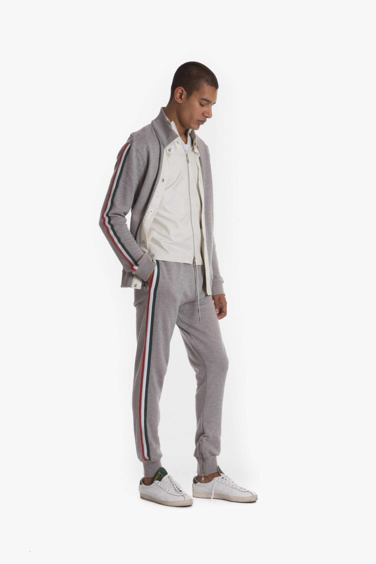 JOMO TRACK PANT (HEATHER GREY)