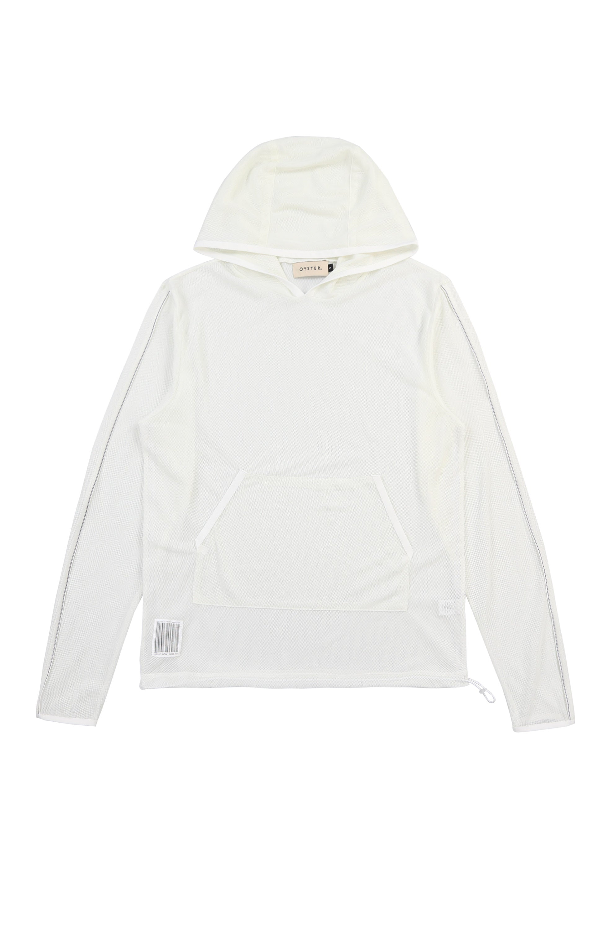 Oyster Mesh Hoodie (White)