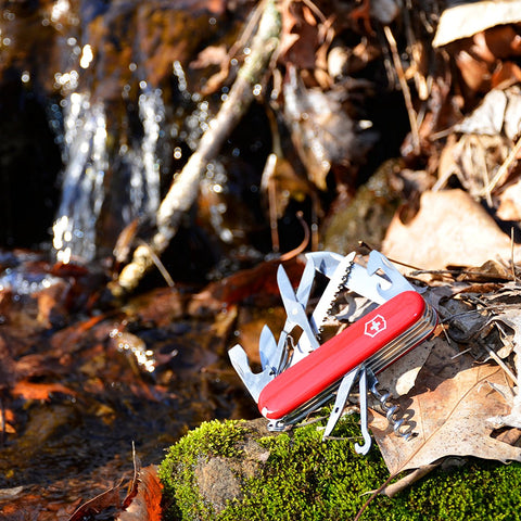 Victorinox Huntsman Pocket Knife - Red