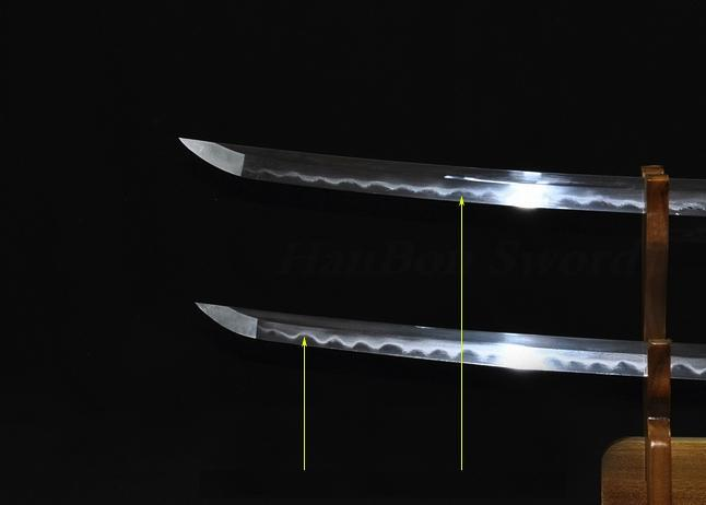 Kill Bill Bride & Groom Clay Tempered Katana Sword Set