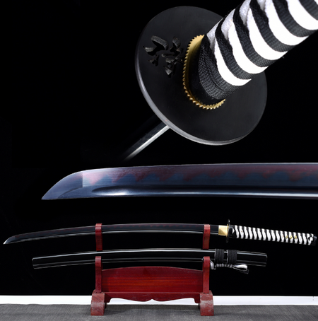 Onmyōdō Black Carbon Steel Katana Samurai Sword - BladesPro UK