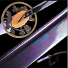 Qiu Folded Blue Steel Katana Samurai Sword - BladesPro UK