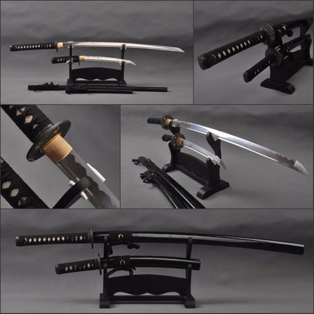 Aki Carbon Steel Samurai Sword Set - BladesPro UK