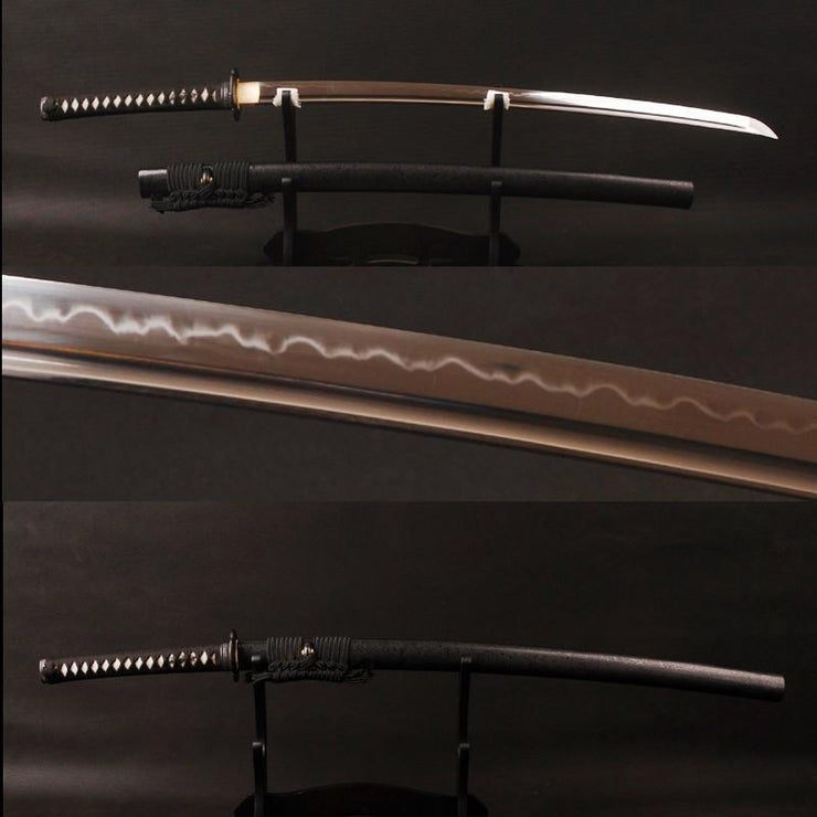 Ambhom Clay Tempered Carbon Steel Katana Samurai Sword