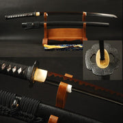 Anada Clay Tempered Carbon Steel Katana Samurai Sword - BladesPro UK