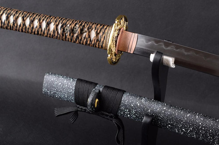 Asnee Clay Tempered Folded Steel Katana Samurai Sword - BladesPro UK