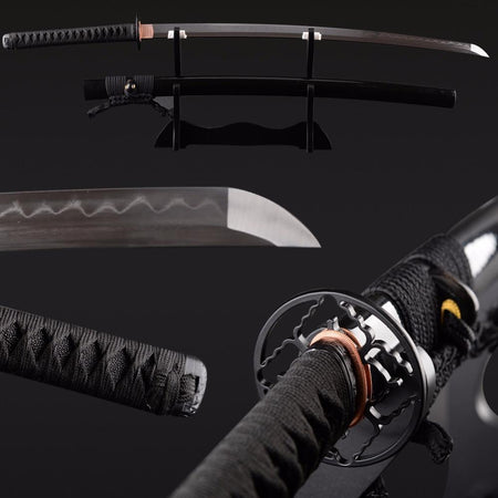 Chintana Clay Tempered Folded Steel Katana Samurai Sword - BladesPro UK