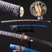 Dara Clay Tempered Folded Steel Katana Samurai Sword - BladesPro UK