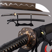 Kurushima Clay Tempered Katana Samurai Sword