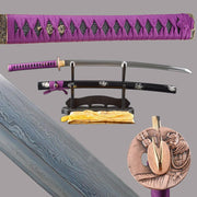 Luli Folded Steel Katana Samurai Sword - BladesPro UK