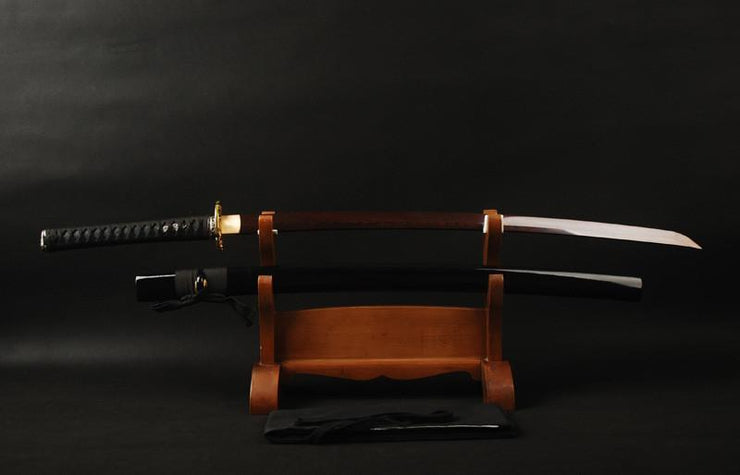 Ning Folded Red Steel Katana Samurai Sword - BladesPro UK